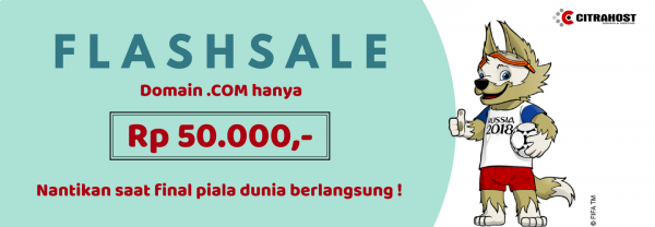 [Flash Sale] Final Piala Dunia, Domain .com Harga Spesial