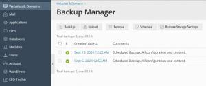 Cara backup data pada plesk panel